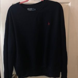 Navy polo sweatshirt